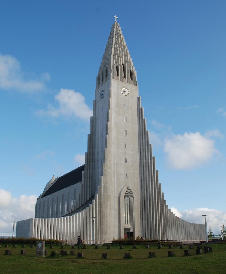 Hallgrimskirkja, Reykjavik, Island