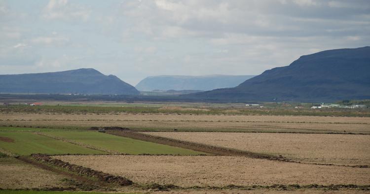 Vy över det isländska landskapet