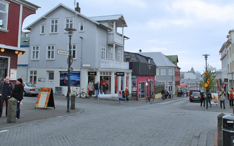Gatubild från Reykjavik