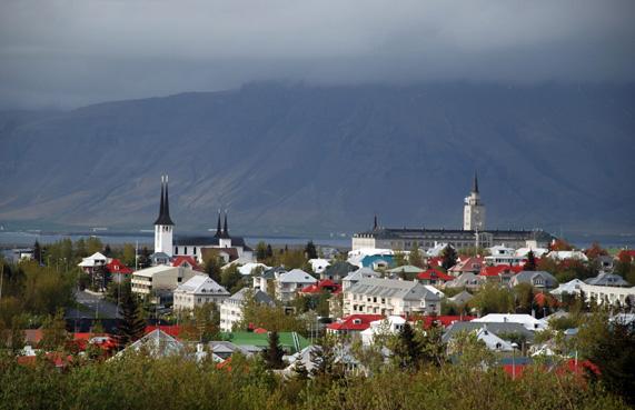 Reykjavik Island - Foto taget frŒn Perlan
