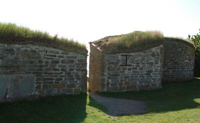 Ruinen av borgen vid Näs