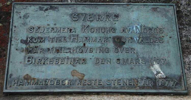 Minnessten šver Sverre.