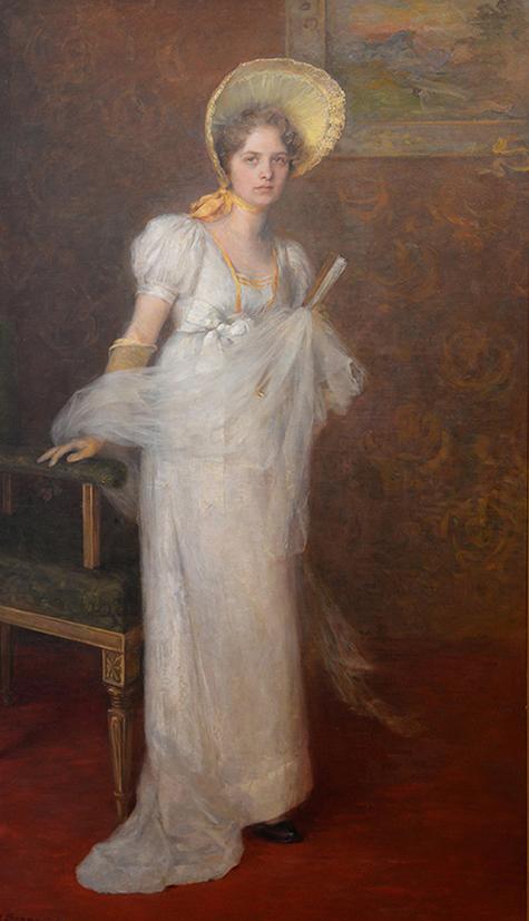 En målning som förställer Olga Milles.