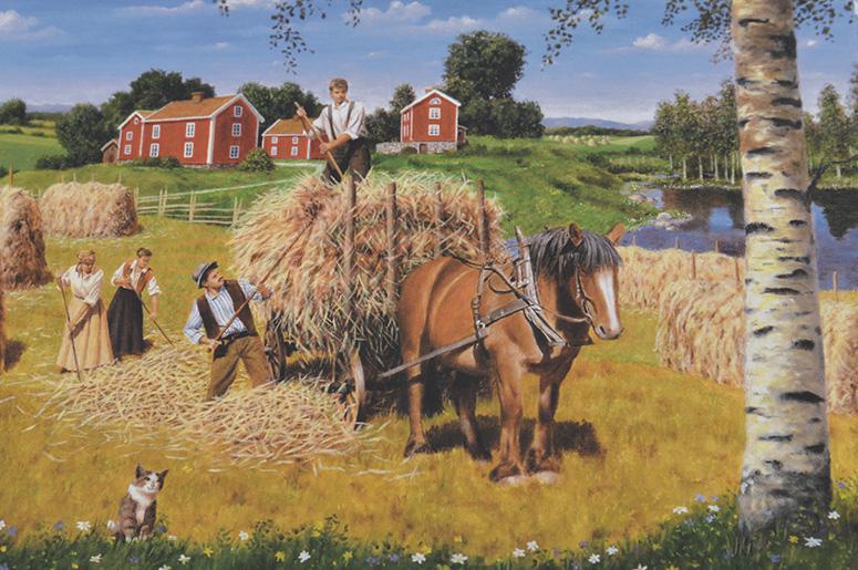 Motiv av Jan Bergerlind, som finns på ett stort antal produkter