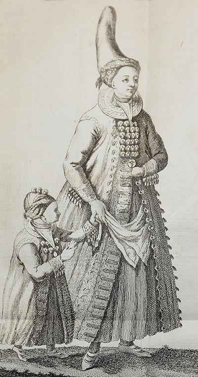 En hustru med dess dotter