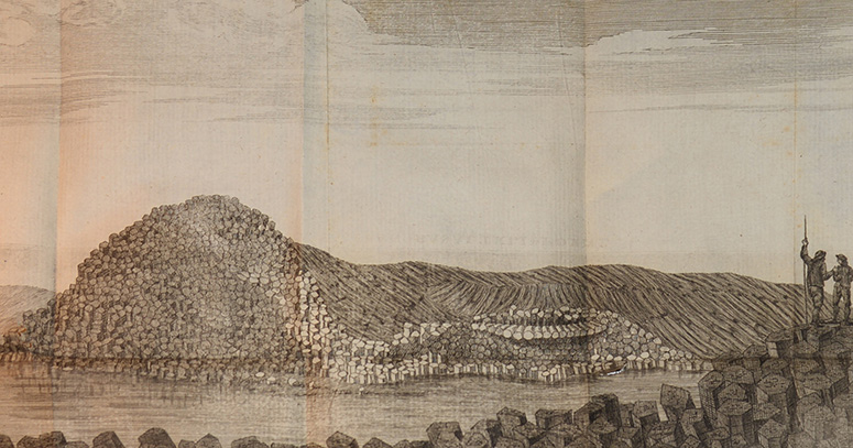 Utsigt af Boo-sha la från basaltklipporne