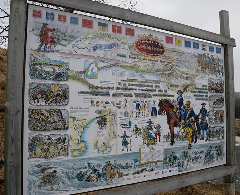 Storoch mycket informativ  skylt på platsen som berättar om händelseförloppet. En kopia av planschen kan köpas på Tännforsens turiststation.