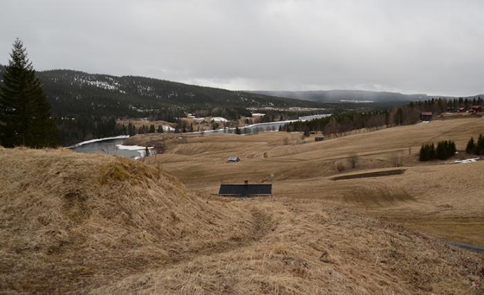 Här var det fullt av soldater och hästar inför avmarschen mot Norge.