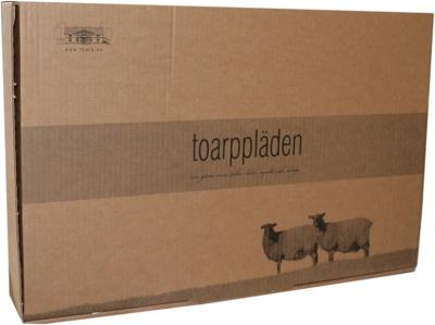 Presentförpackning för den som vill ge bort en pläd.